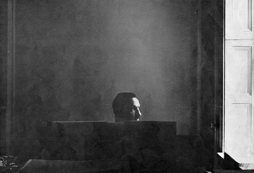 Marc Blitzstein at his piano in the 1940s